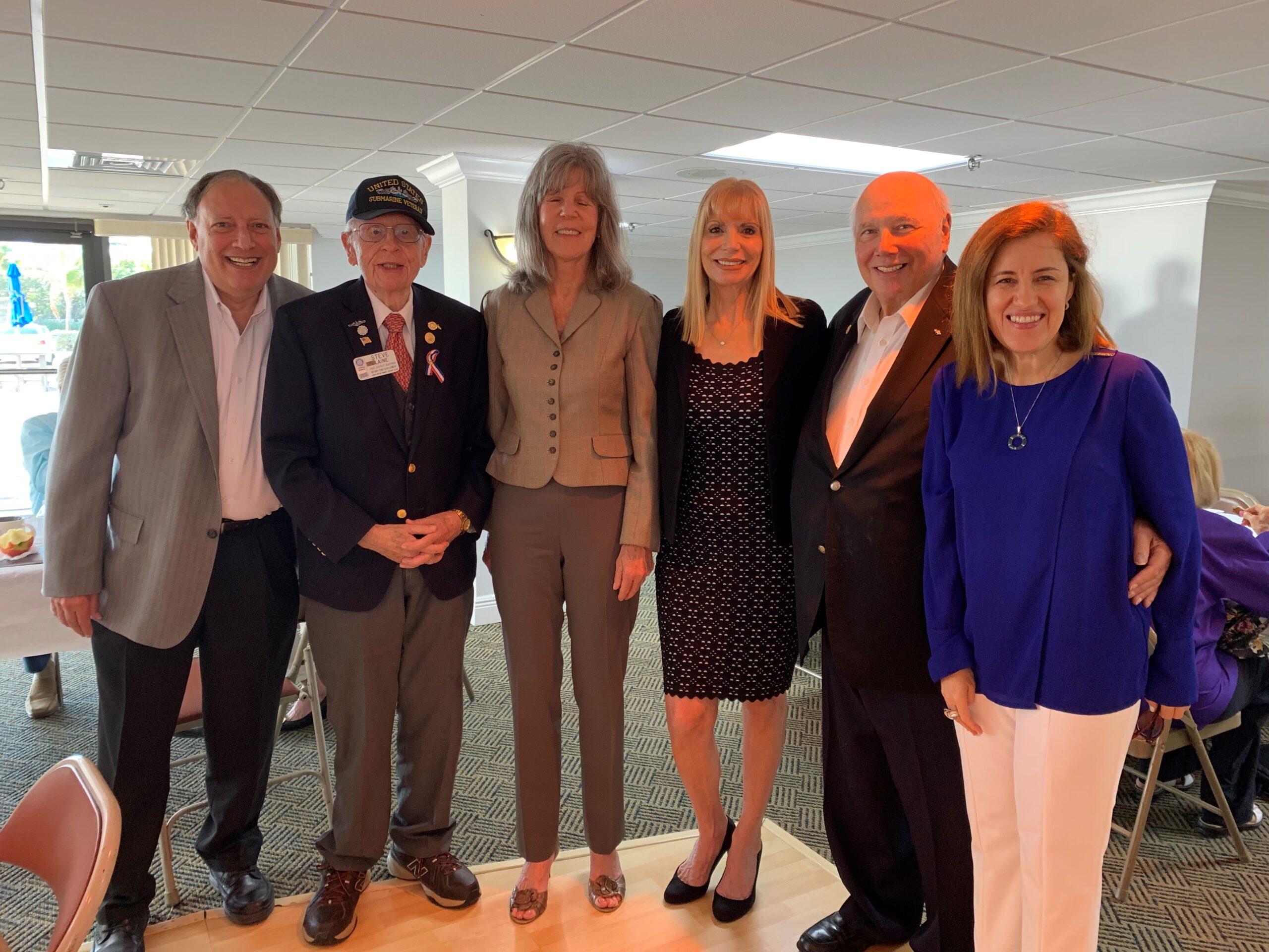 BCA Board Family with Emily Gentile, Steve Lane, Bernard Featherman, Ana Londono, Russel Edelstein, and Ann Gannon, Palm Beach Tax Collector